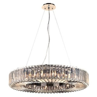 """PLC Lighting 90045 16 Light 30"""" Wide ADA Compliant Pendant from the Marquee Collection - Silver"""