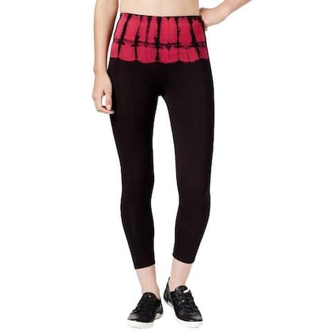 Calvin Klein Performance Women's Tie-Dye Cotton Leggings (XS) - Black, Red