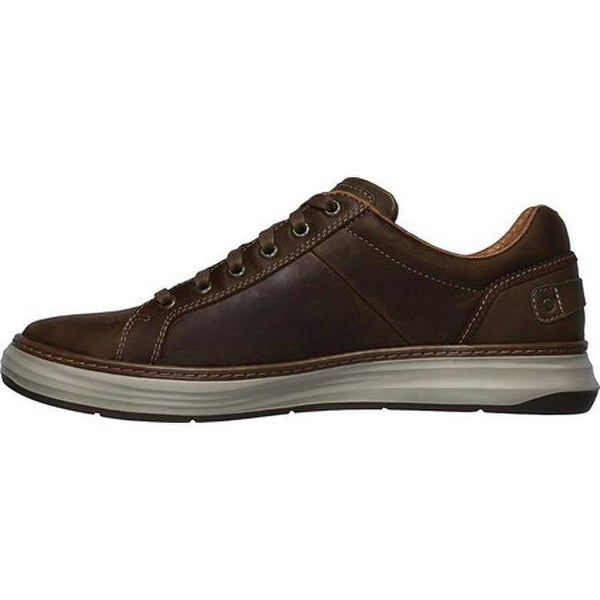 sencillo Descanso tobillo  Shop Skechers Men's Moreno Winsor Oxford Dark Brown On