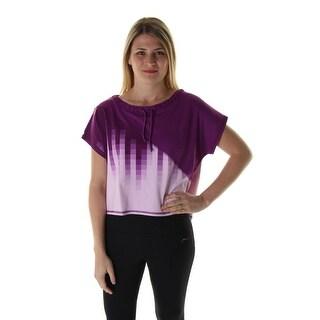 X by Gottex Womens Zen Tee Ombre Hi Lo Hem Shirts & Tops