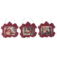"""Pack of 6 Holiday Red Vintage Inspired Santa Claus Christmas Signs 7""""H"""