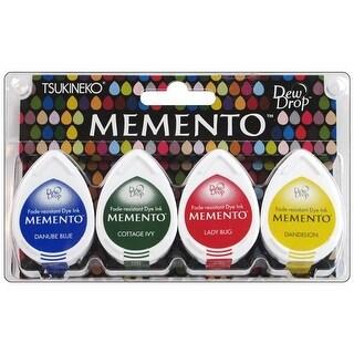 Tsukineko Memento Ink Dew Drop Set/4 Prime Time