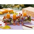 "LED Lighted Floral and Berries Candle Centerpiece Canvas Wall Art 11.75"" x 15.75"" - Thumbnail 0"