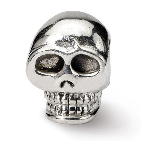Sterling Silver Reflections Skull Bead (4mm Diameter Hole)