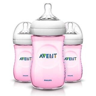 9oz Slow Flow Natural PP Pink Baby Bottles Natural Baby Bottles