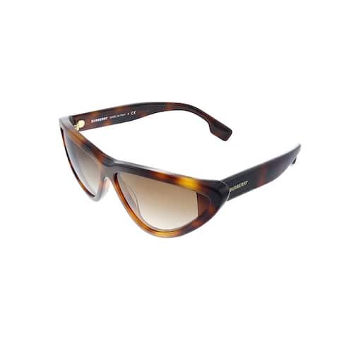 Burberry BE 4292 33163B 65mm Womens Havana Frame Brown Gradient Lens Sunglasses