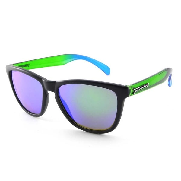 c181bb6b58 Shop Peppers Polarized Sunglasses Breakers Black w Fade Temples w Green Mirror  Lens - Free Shipping On Orders Over  45 - Overstock.com - 18003317