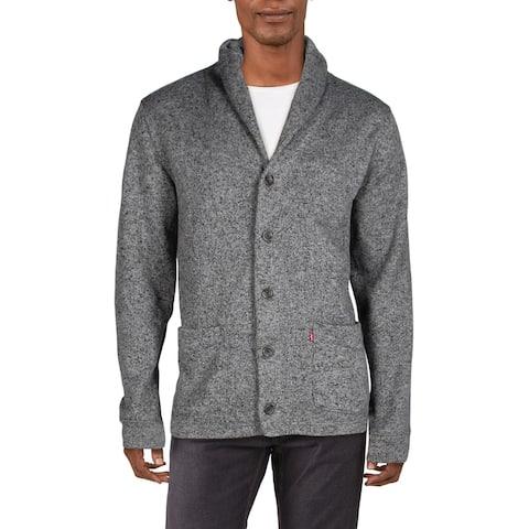 Levi Strauss & Co. Mens Cardigan Sweater Shawl Collar Layering