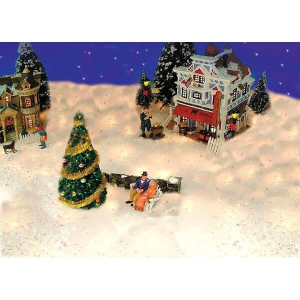 5' Pre-Lit Snow Blanket For Mantle or Christmas Village Display – Clear Lights