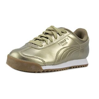 Puma Roma Iri Nbk Jr Youth Round Toe Patent Leather Gold Sneakers|https://ak1.ostkcdn.com/images/products/is/images/direct/ddc5d159125489f02695c346be14c4970beac590/Puma-Roma-Youth-Round-Toe-Patent-Leather-Gold-Sneakers.jpg?impolicy=medium