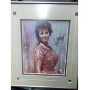 Signed Loren Sophia 8x10 Photo Framed and Matted ready to be displayed autographed