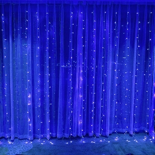 Link to 320 LEDs Christmas Window Curtain String Lights, 8 Modes, Blue Similar Items in String Lights