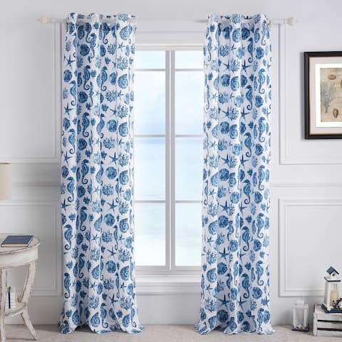 Greenland Home Fashions Pebble Beach Grommet Top Curtains - 84 W x 84 L