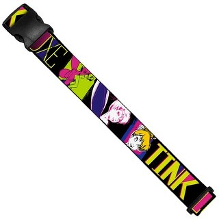 Tink Luxe Sketch Black Multi Neon Luggage Strap