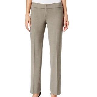 Nine West NEW Solid Beige Women's Size 10 Straight Leg Dress Pants