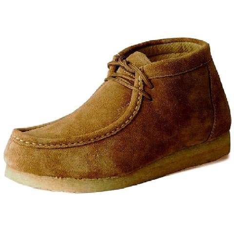 Roper Casual Shoes Mens Chukka Lace Up Suede Sand