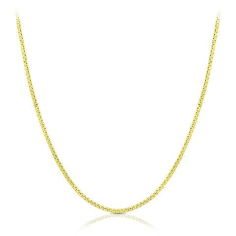 14k Yellow Gold Classic Box Chain 0.6mm