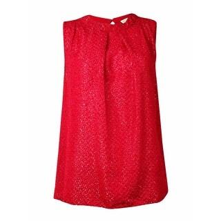 MICHAEL Michael Kors Women's Textures Pleated Blouse