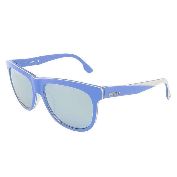 Diesel DL0112/S 86C Sky Blue/White&Clear Rectangle sunglasses - 56-16-140