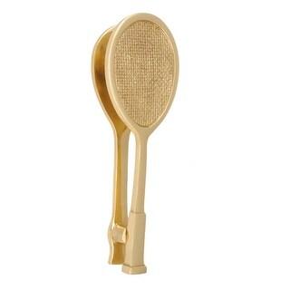 """Solid Brass Door Knocker Tennis Racket Badminton 7.5""""H"""