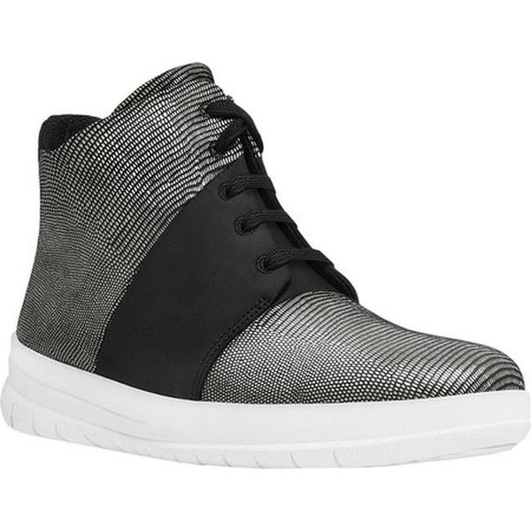 10af54e89586d1 Shop FitFlop Women s Sporty-Pop X High-Top Sneaker Black Lizard ...
