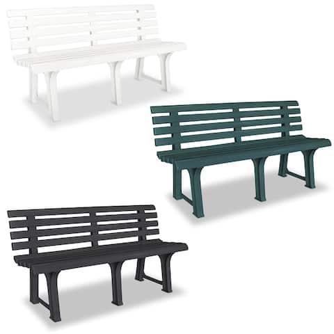 "vidaXL Garden Bench Plastic Outdoor Bench Yard Furniture - 57.3"" x 19.3"" x 29.1"""