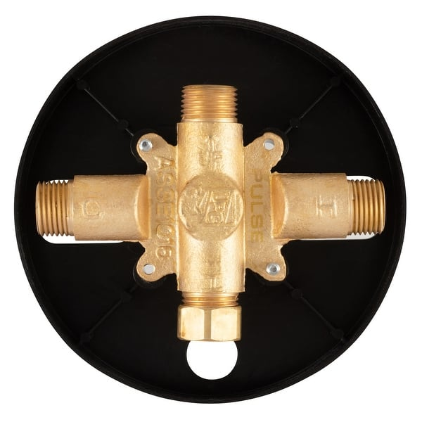 Trutemp Pressure Balance Valve With Brushed Gold Trim Kit Overstock 31853762