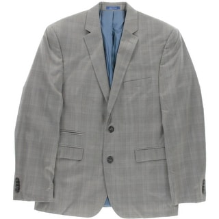 Vince Camuto Mens Two-Button Suit Jacket Wool Plaid - 40S