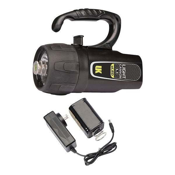 UK Light Cannon eLED (L1) w/ NiMH Battery/Charger, Lantern Grip, Box Dive Light - Black