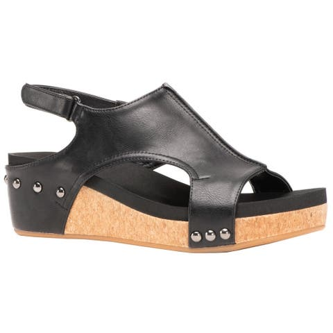 Corkys Womens Volta Casual Wedges Shoes