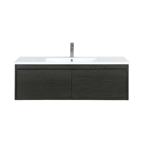 Lexora Sant 48 in. Single Bathroom Vanity in Iron Charcoal with Faucet