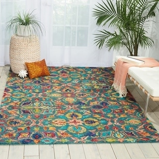 Link to Nourison Vivid Colorful Area Rug Similar Items in Transitional Rugs