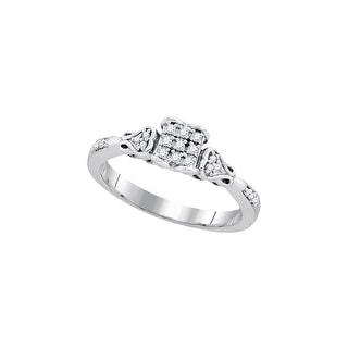1/6Ctw Diamond Bridal Engagement Ring 10K White-Gold