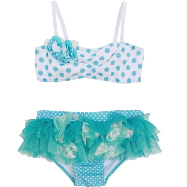 e3f044fa9b Shop Isobella & Chloe Little Girls Sky Blue Piper Two Piece Bikini Swimsuit  2T-6X - Free Shipping On Orders Over $45 - Overstock - 18176178
