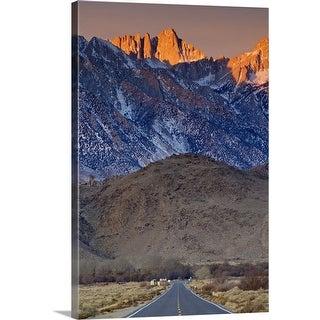 """""""Mount Whitney in Eastern Sierra Nevada"""" Canvas Wall Art"""