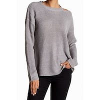 RDI NEW Gray Cutout Knit Women's Size Small S Boat Neck Sweater