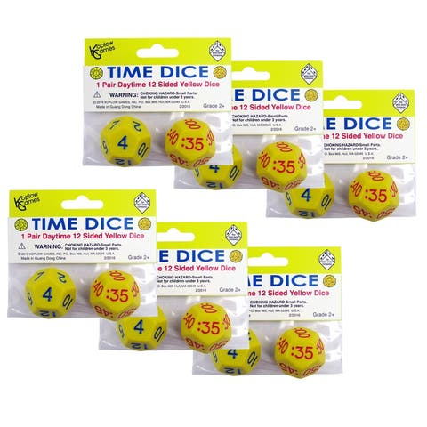 Koplow games (6 st) time dice pair of yellow am 18847bn