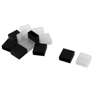 Notebook Silicone USB Male Port Anti Dust Cover Cap Protector Black Clear 12pcs