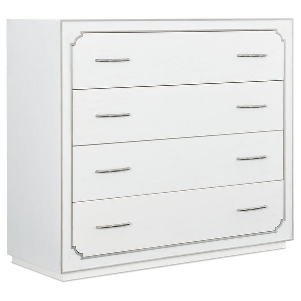 "Hooker Furniture 1652-90011-2 50"" Wide 4 Drawer Poplar Wood Dresser from the Modern Romance Collection - White Linen"