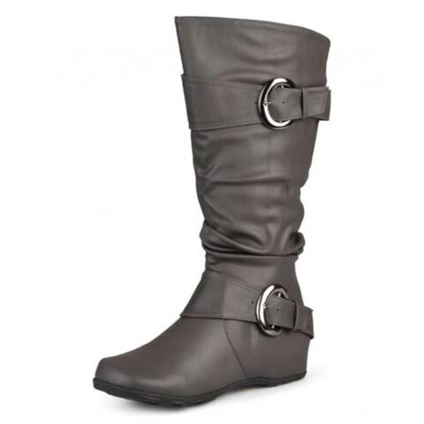 Brinley Co Womens Paris Square Toe Knee High Fashion Boots