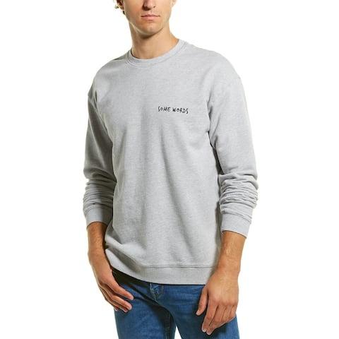 Zanerobe Words Crewneck Sweatshirt - silver marle