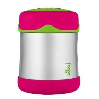 Thermos Foogo Stainless Steel, Vacuum Insulated Food Jar - Watermelon/Green - 10 oz.