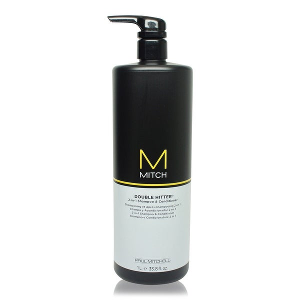 Paul Mitchell Mitch Double Hitter 2-in-1 Shampoo and Conditioner 33.79 Oz