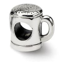 Sterling Silver Reflections Beer Mug Bead (4mm Diameter Hole)