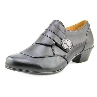 Aetrex Danielle Women Round Toe Leather Black Loafer