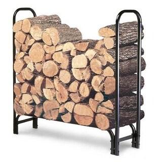 Landmann 82413 4' Firewood Log Wood Storage Holder Steel Rack - Black