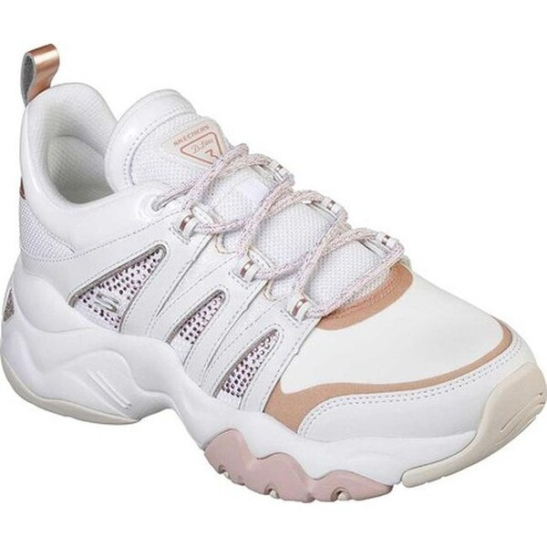 Skechers Women's D'Lites 3.0 Intense Force Sneaker WhiteRose Gold