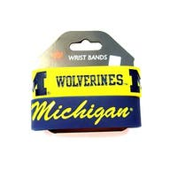 Michigan Wolverines Rubber Wrist Band Set