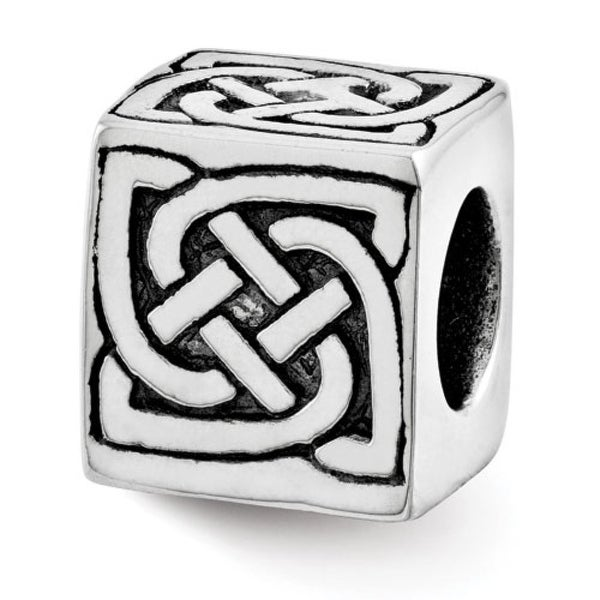 Sterling Silver Reflections Celtic Block Bead (4mm Diameter Hole)