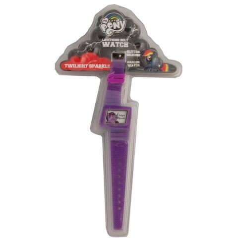 My Little Pony Glitter Silicone Lightning Bolt Watch: Twilight Sparkle - Purple